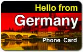 Hello from Germany Phone Card