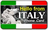 Hello from Italy Phone Card