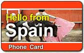 Hello from Spain Phone Card